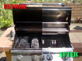 A dirty grill vs a clean grill